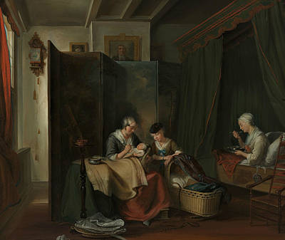 Painting - Dutch Delivery Room by Cornelis Troost
