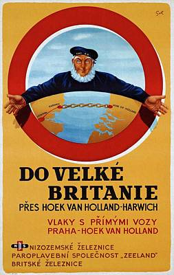 Painting - Dutch Railroad 1948 Czechoslovak Vintage Poster by Unknown