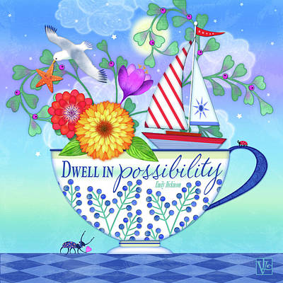 Digital Art - Dwell In Possibility by Valerie Drake Lesiak