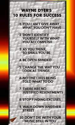 Digital Art - Dyer 10 Rules For Success by Mario Carini