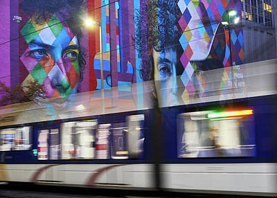 Bob Dylan Wall Art - Photograph - Dylan Rides The Rails In Minneapolis by Jim Hughes