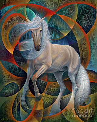 Painting - Dynamic Stallion by Ricardo Chavez-Mendez