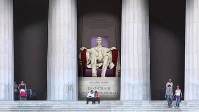 Photograph - Ea-z-chair Lincoln Memorial H D by Mike McGlothlen