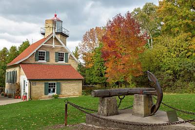Photograph - Eagle Bluff Lighthouse by Adam Romanowicz