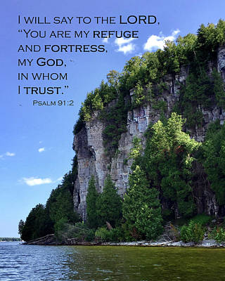 Photograph - Eagle Bluff - Psalm 91 by David T Wilkinson