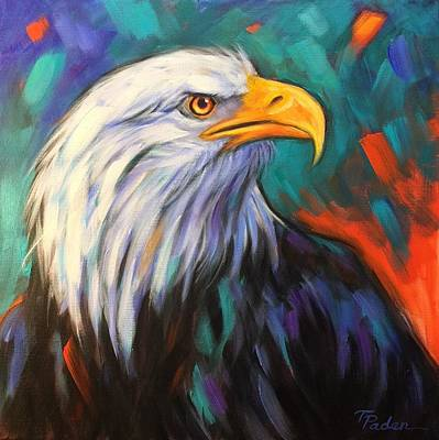 Wall Art - Painting - Eagle Eye by Theresa Paden