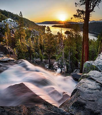 Photograph - Eagle Falls California by Leland D Howard