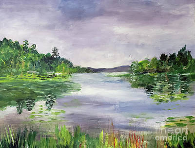 Painting - Eagle Point Wma In Derby by Donna Walsh