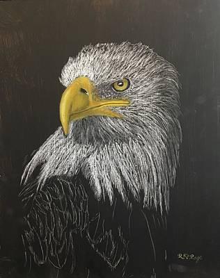 Pastel - Eagle by Richard Le Page