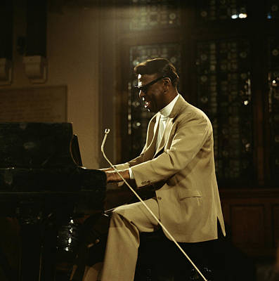 Earl Hines On Stage Art Print by David Redfern