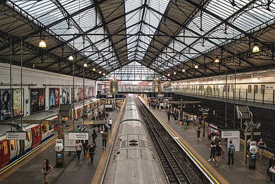 Photograph - Earl's Court Tube Station London  by John McGraw