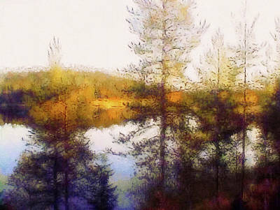 Mixed Media - Early Autumn In Finland by Susan Maxwell Schmidt