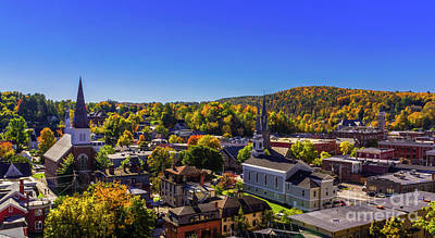 Photograph - Early Autumn Morning In Montpelier by New England Photography