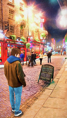 Photograph - Early Bird Special In Dublin's Temple Bar by Mark E Tisdale