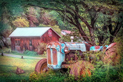 Photograph - Early Fall At The Farm Painting by Debra and Dave Vanderlaan