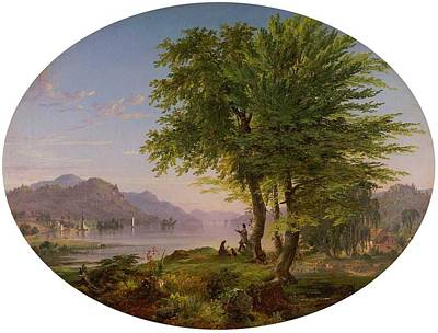 Outerspace Patenets Rights Managed Images - Early Landscape, 1845 by Jasper Francis Cropsey  1823-1900  Royalty-Free Image by Celestial Images