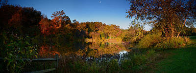 Photograph - Early Light In Autumn - Holmdel Park  by Angie Tirado