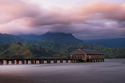 Photograph - Early Morning At The Hanalei Pier by John Hight