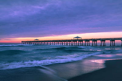 Photograph - Early Morning At The Juno Pier by Debra and Dave Vanderlaan