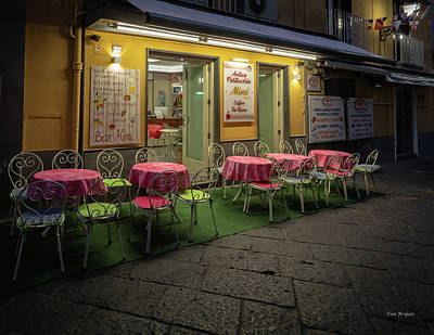 Photograph - Early Morning, Bar Mimi, Sorrento, Italy  by Tim Bryan