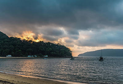 Photograph - Early Morning Clouds On The Bay by Merrillie Redden