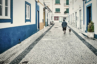 Photograph - Early Morning Dog Walk - Portugal by Stuart Litoff