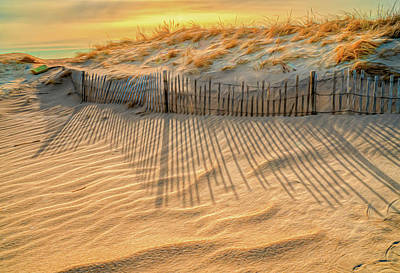 Photograph - Early Morning Shadows At The Sand Dune by Gary Slawsky