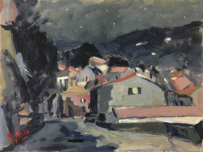 Painting - Early Morning Stars In Loggos by Nop Briex