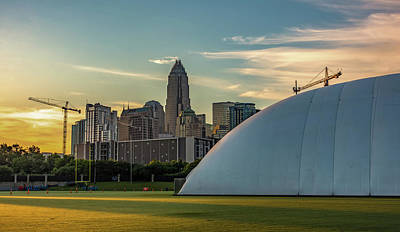 Photograph - Early Morning Sunrise Over Charlotte North Carolina And New Caro by Alex Grichenko