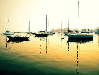 Photograph - Early Mornings At The Harbour by Geraldine Gracia