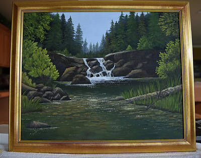 Painting - Early Waterfall by Gloria Johnson
