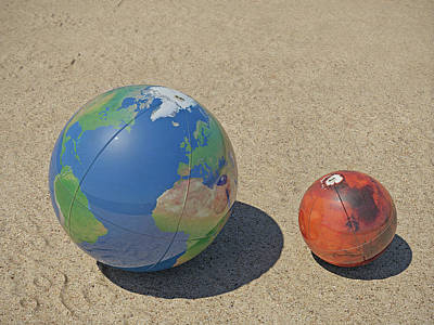 Photograph - Earth And Mars On The Beach by Frans Blok