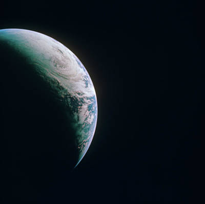 Photograph - Earth From Apollo 4 by Space Frontiers
