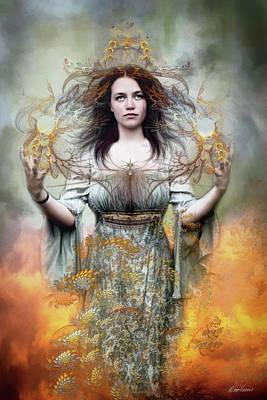 Digital Art - Earth Goddess by Diana Haronis