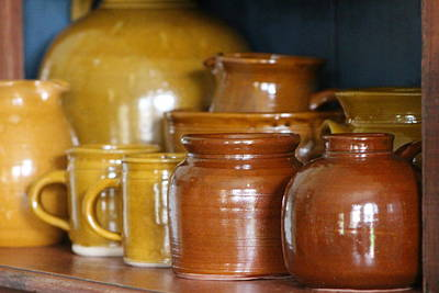 Photograph - Earthenware In Mustard And Chocolate by Colleen Cornelius