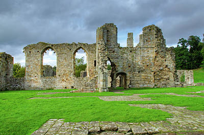 Mixed Media - Easby Abbey by Smart Aviation