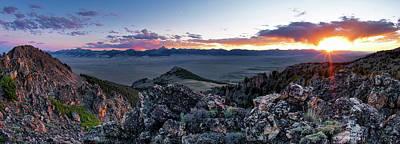 Photograph - East Central Idaho Sunset by Leland D Howard
