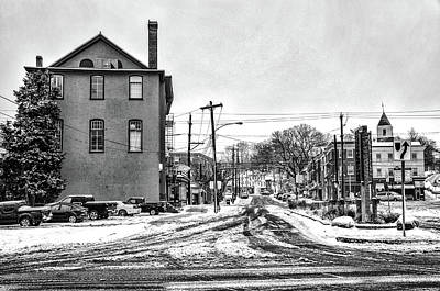 Photograph - East Falls - Midvale Avenue In Winter by Bill Cannon