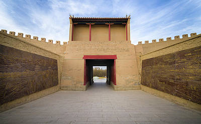Photograph - East Gate Guan City Jiayuguan Gansu China by Adam Rainoff