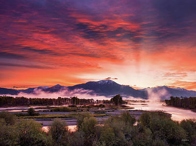 Photograph - East Idaho Sunrise by Leland D Howard