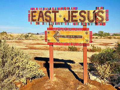 Photograph - East Jesus by Dominic Piperata