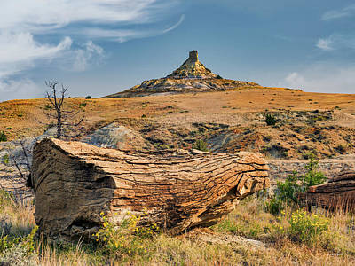 Photograph - East Montana Badlands by Leland D Howard