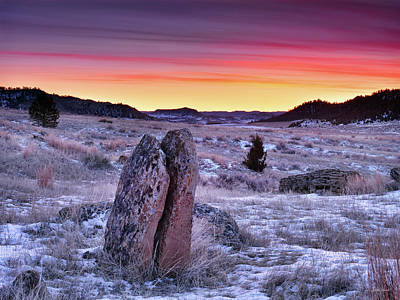 Photograph - East Montana Winter Sunrise by Leland D Howard