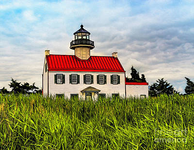 Photograph - East Point Light - Stylized by Nick Zelinsky