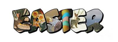 Photograph - Easter Big Letter by Colleen Cornelius
