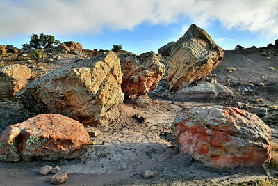 Photograph - Easter Egg Rocks At Blm Bentonite Site by Ray Mathis