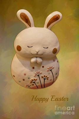 Mixed Media - Easter Greeting Card by Eva Lechner
