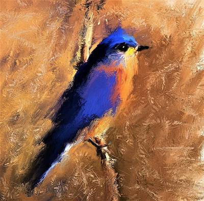 Painting - Eastern Bluebird by Diane Chandler