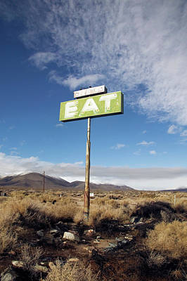 Photograph - Eat Sign by Ann Cutting