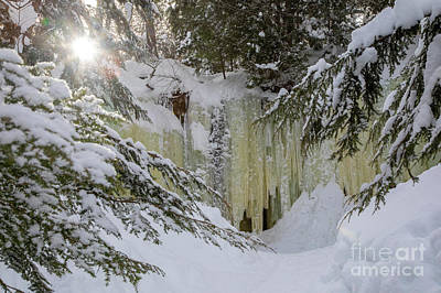 Photograph - Eben Ice Caves by Jim West